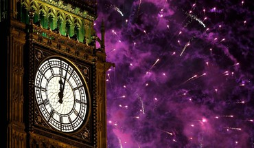 Big ben new year HD wallpaper