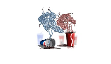 Pepsi artwork coke funny minimalistic HD wallpaper