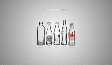 Cocacola bottles evolution minimalistic text HD wallpaper