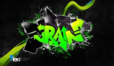 Digital Art grafiti lietaus  HD wallpaper