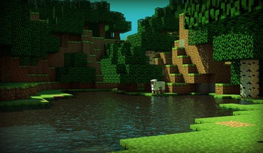 3d minecraft CINEMA 4D rend moutons  HD wallpaper