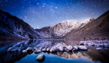 Kalifornien Convict Lake Sierra Nevada Seen Gebirge  HD wallpaper