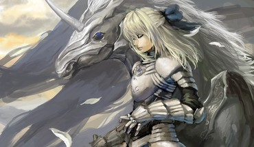 White knights unicorns fantasy art closed eyes HD wallpaper