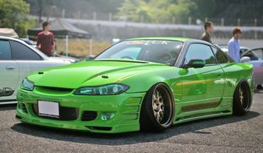Nissan silvia s15 cars green HD wallpaper