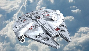 Millennium falcon star wars artwork science fiction spaceships HD wallpaper