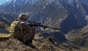 Military afghanistan us army remington xm2010 multicam HD wallpaper