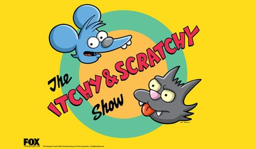 Simpsons tv series itchy and scratchy foxes HD wallpaper