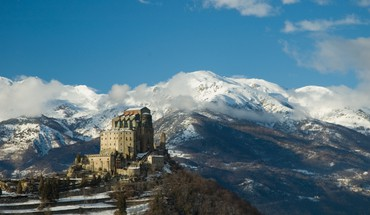 Italia italy sacra di san michele architecture landscapes HD wallpaper