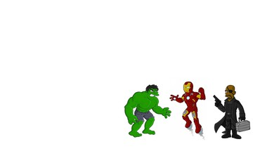 Iron man die Simpsons Avengers Nick Fury  HD wallpaper