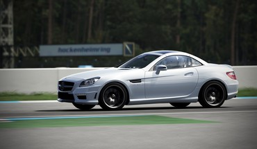 360 forza motorsport 4 mercedes slk55 amg HD wallpaper