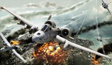 explosions incendies d'aéronefs A-10 coup de foudre II  HD wallpaper
