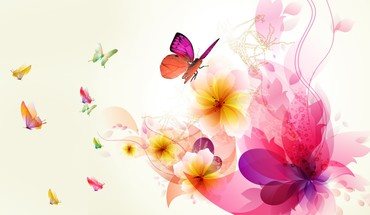 Exotic abstract floral HD wallpaper