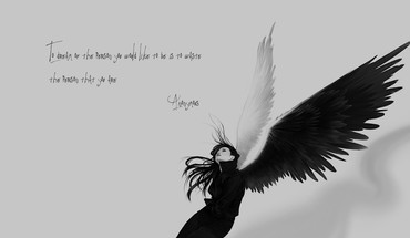 Anonymous angels monochrome quotes sad HD wallpaper