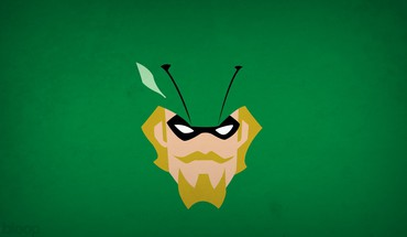 Superheroes Green Arrow moustache fond blo0p  HD wallpaper