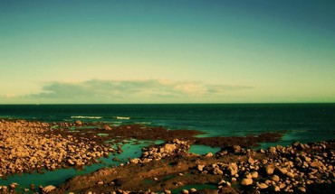 Landscapes nature shore rocky sea HD wallpaper
