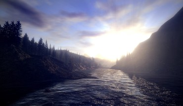 Alan wake landscapes sunlight trees HD wallpaper