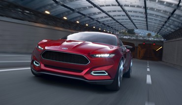 Ford evos concept cars art red HD wallpaper