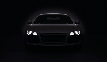 Dark cars audi r8 headlights 2013 HD wallpaper