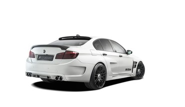 Studio bmw m5 hamann white background HD wallpaper