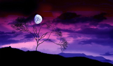 Moon nature HD wallpaper