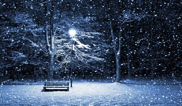 Snowy banc de parc  HD wallpaper