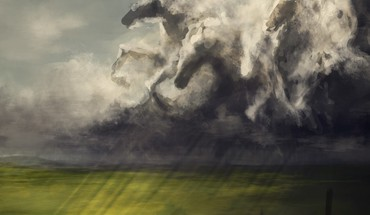 Horse sky HD wallpaper