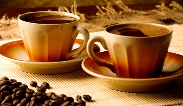 Coffee for two HD wallpaper