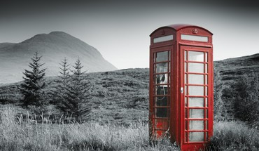 Phonebox in the middle of no where HD wallpaper