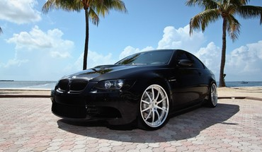 Bmw automobiles cars m3 gts palm trees HD wallpaper