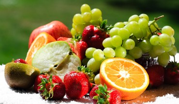 Assortment of fresh fruit HD wallpaper