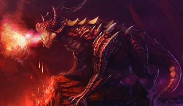 Artwork fantasy art fire horns HD wallpaper