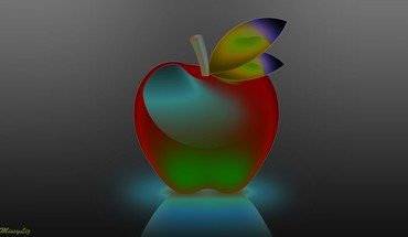 Funny apple HD wallpaper