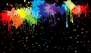 Spattered paints HD wallpaper