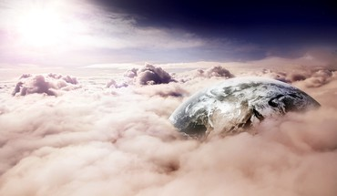 Earth through clouds HD wallpaper