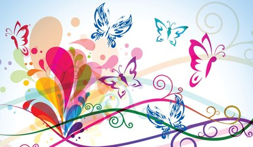 Loving butterflies HD wallpaper