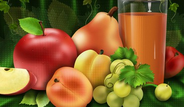 Abstract fruits HD wallpaper