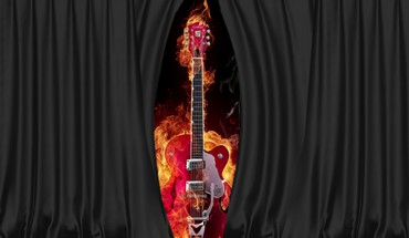 Burning guitar HD wallpaper