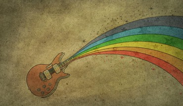 Rainbow guitar HD wallpaper