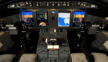 Aircraft cockpit aviation bombardier challenger HD wallpaper
