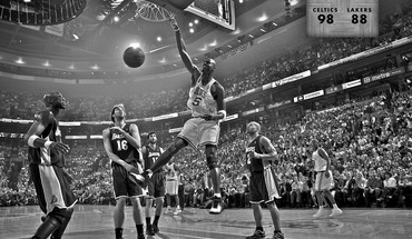 Boston Celtics Lakers de Los Angeles NBA monochrome  HD wallpaper