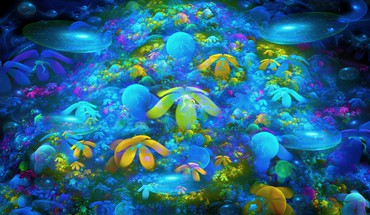 Abstract coral reef HD wallpaper