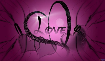I love you in purple HD wallpaper