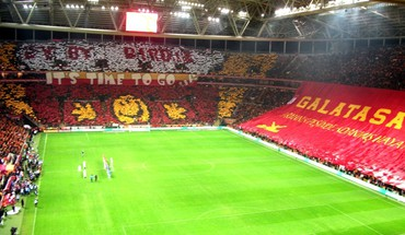 Soccer stadium galatasaray sk tt arena football fans HD wallpaper