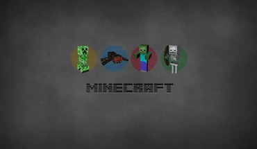 Minimalistic creeper skeletor minecraft spiders porkchop HD wallpaper
