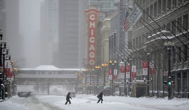 Chicago in a snow blizzard HD wallpaper