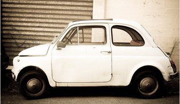 Fiat cars vintage white HD wallpaper