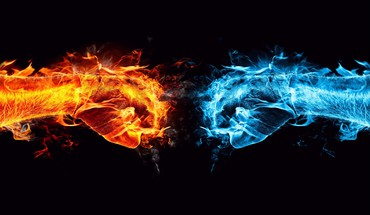 Fire vs ice HD wallpaper