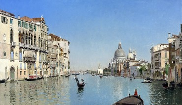 Venice italy artwork gondolas canal martin rico HD wallpaper