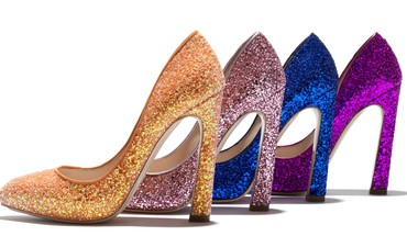 Glitter shoes HD wallpaper