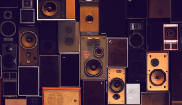 Collection of speakers HD wallpaper